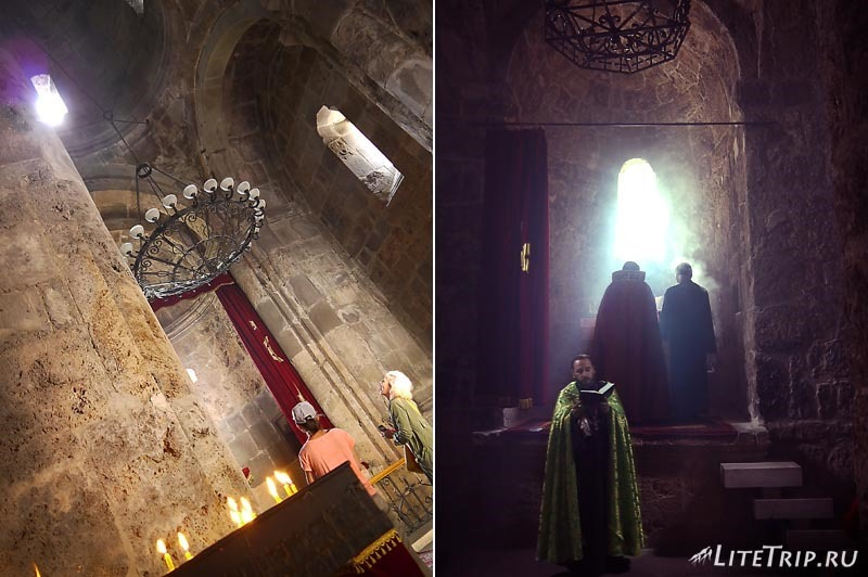 Армения. Дилижан - внутри храма Агарсин.