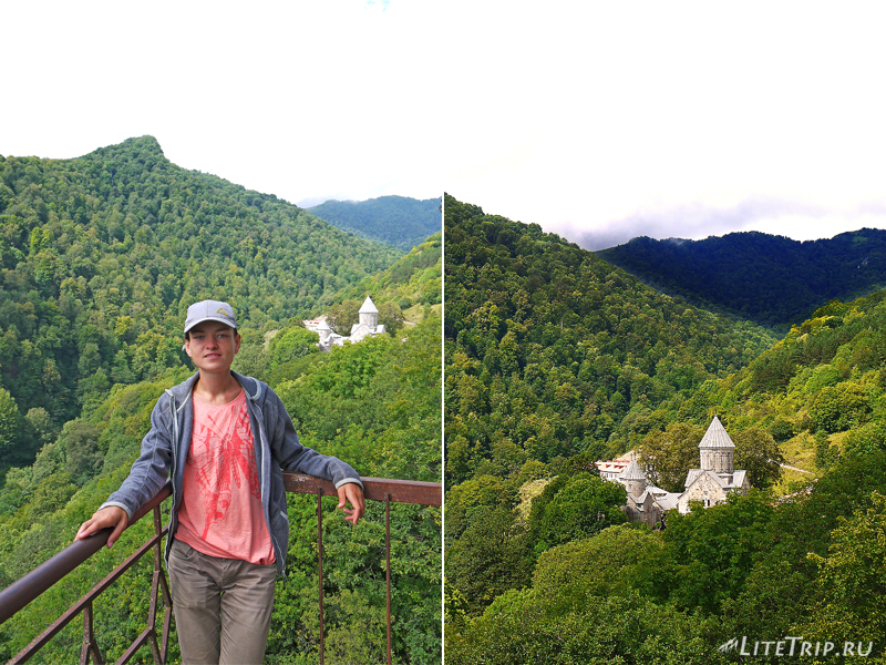 Армения. Дилижан - вид на монастырь Агарсин.