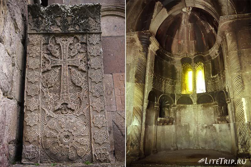 Армения. Дилижан - хачкар монастыря Гошаванк.