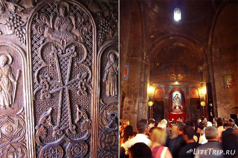 Армения. Внутри храма монастырского комплекса Севанаванк.