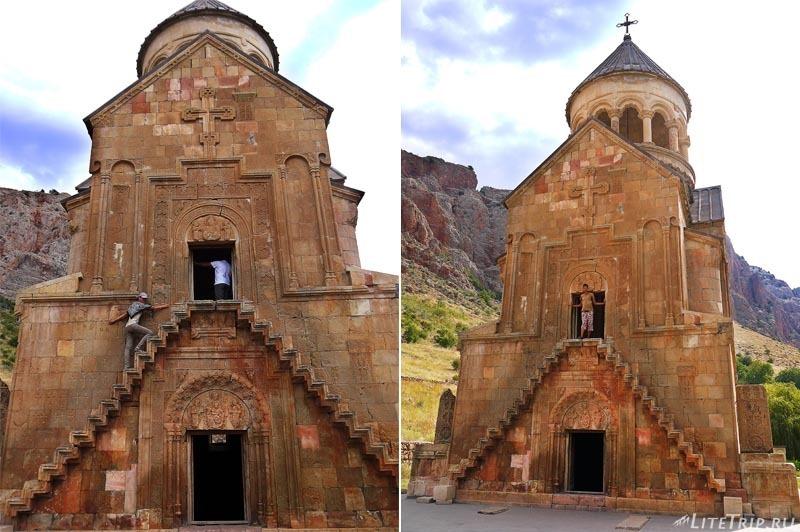 Армения. Нораванк - узкая лестница церкви Сурб Аствацацин.