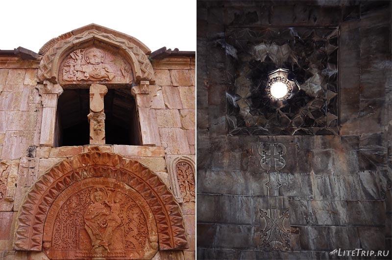Армения. Нораванк - барельеф церкви Сурб Карапет.