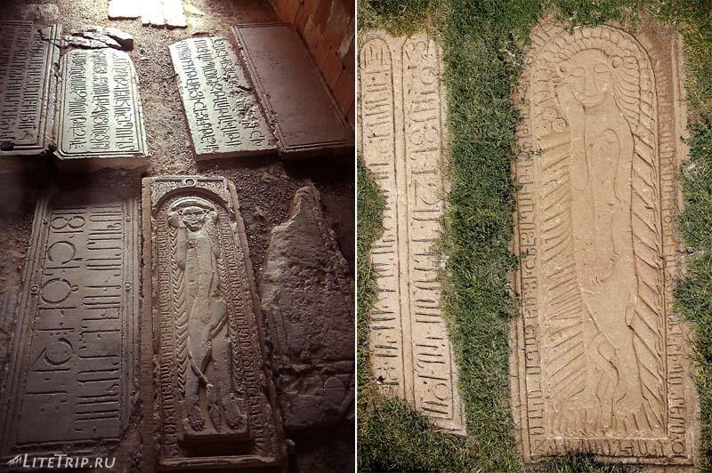 Армения. Нораванк - могильные плиты часовни Сурб Григор.