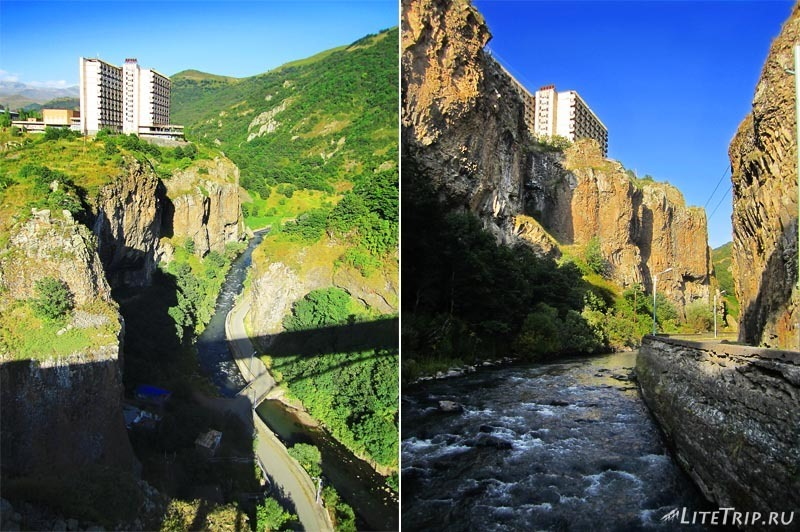 Армения. Джермук - мост через каньон.