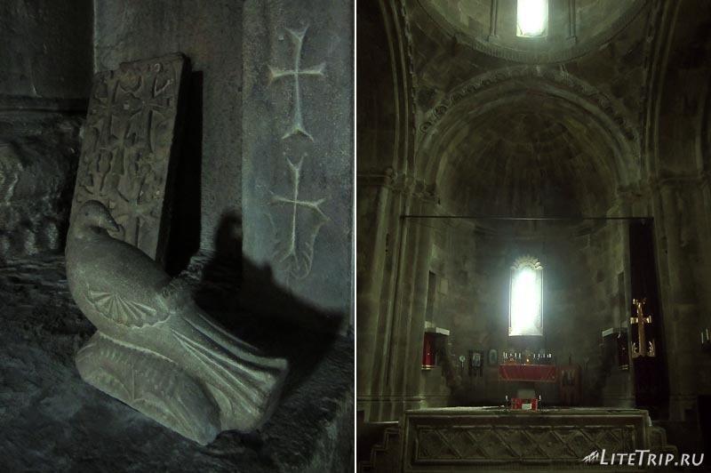 Нагорный Карабах. Храм Гандзасар внутри.