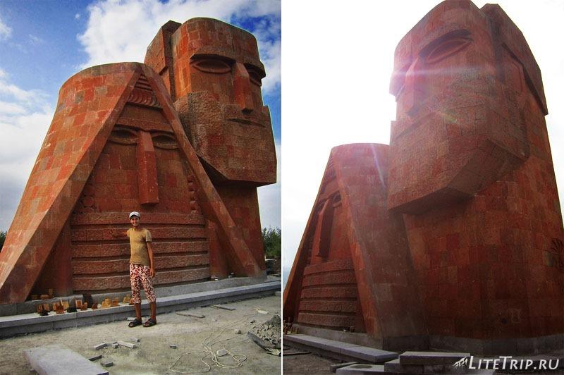 """Нагорный Карабах. Степанакерт - монумент """"Мы - наши горы"""""""