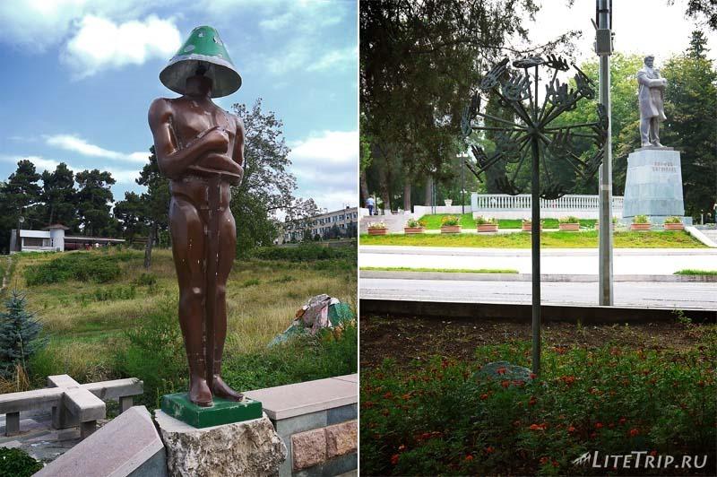 Нагорный Карабах. Степанакерт - современные скульптуры.