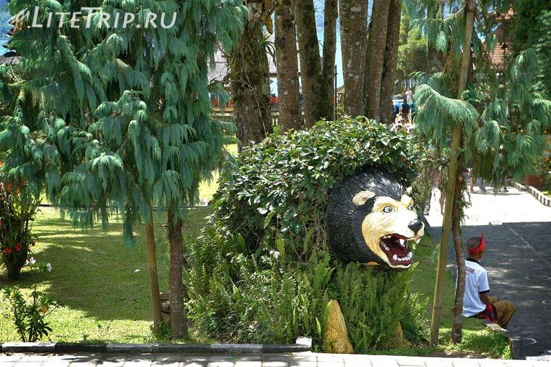 Индонезия. Бали. Храм Улун Дану. Ботанический сад - неизвестный зверь.