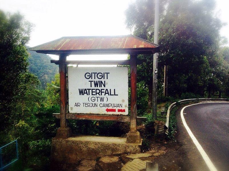 Индонезия. Бали. Водопады Гит-Гит. Указатель.