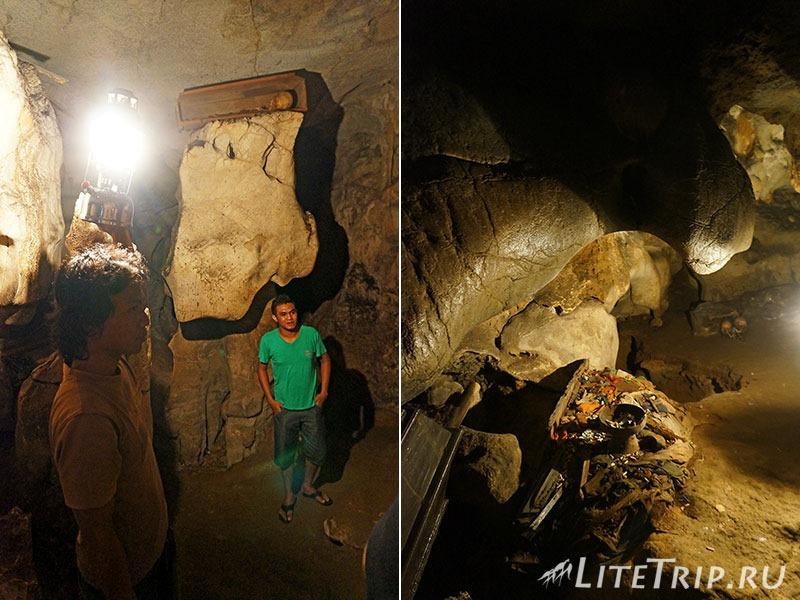 Индонезия. Сулавеси. Тана-Тораджа. Лонда. В пещере с гидом.