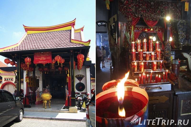 Индонезия. Ява. Сурабая. Китайский храм.