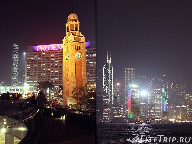 Гонконг. Обзорная площадка на набережной Tsim Sha Tsui
