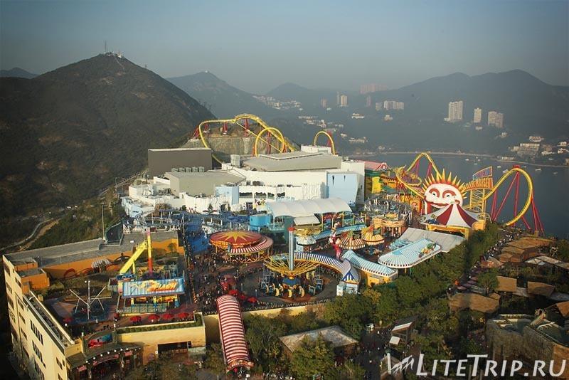 Гонконг. Оушн парк - вид сверху.