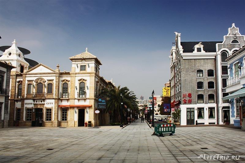 Макет европейских улиц в Макао.