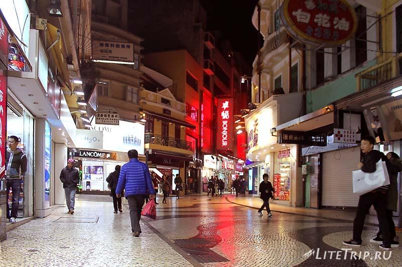 Прогулочная улица Макао.