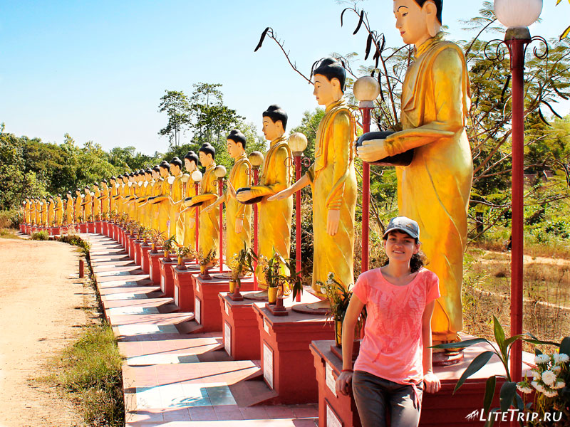 Будды комплекса Кое Thein Koe Thaung Pagoda