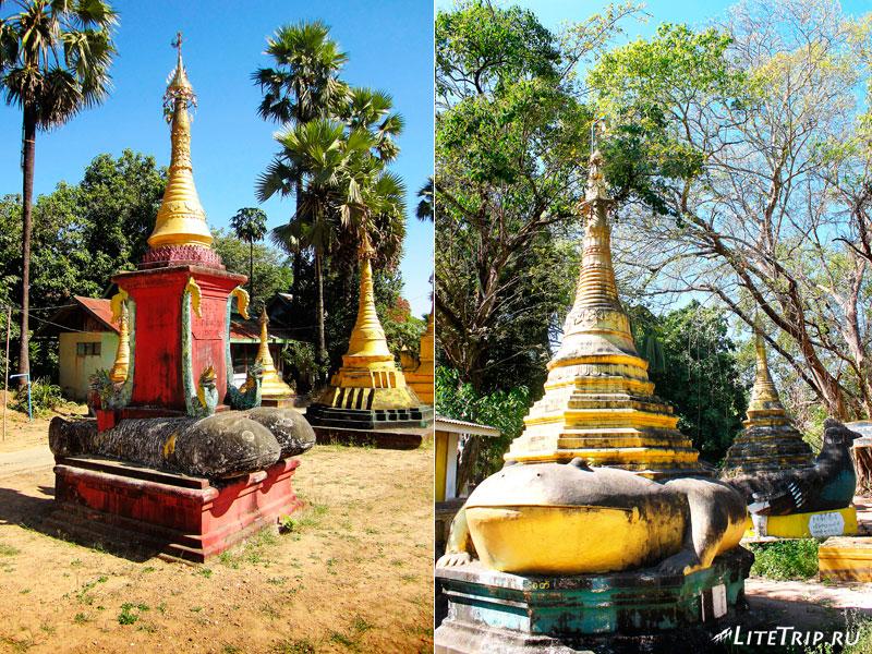 Животные комплекса Кое Thein Koe Thaung Pagoda