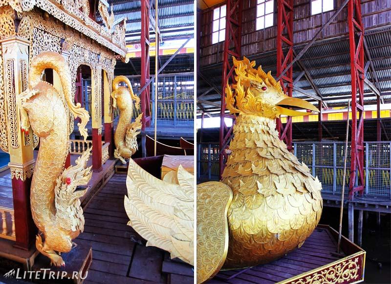 Озеро Инле. Храм Пяти Будд - украшение лодок.