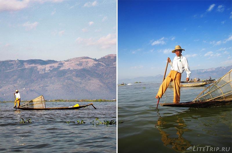 Озеро Инле. Гребцы Инта.