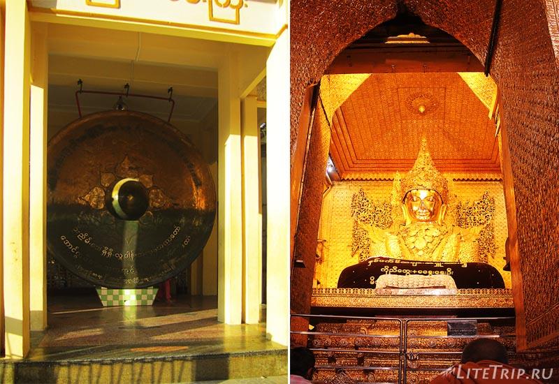 Мандалай. Храм Махамуни. Образ Будды.