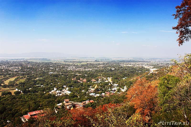 Холм Мандалай. Вид с вершины.