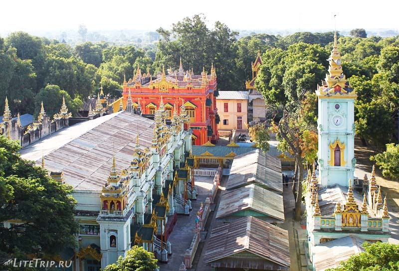 Моньва. Комплекс Тамбодхи. Вид с башни.