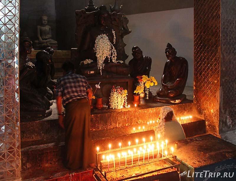 Моньва. Компалекс Bodhi Tataung на холме. Лежащий Будда