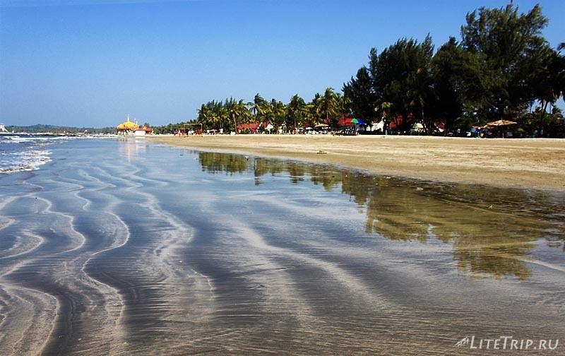 Пляж Чаунг Та. Берег.