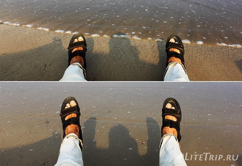 Пляж Чаунг Та. Игра с морскими волнами.