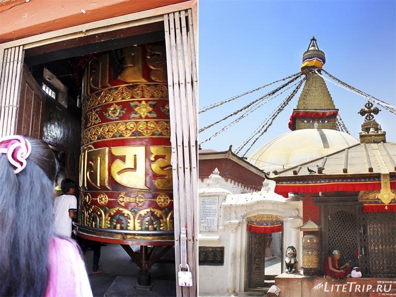 Ступа Боднатх в Катманду (Непал).
