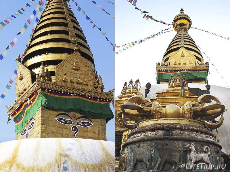Ступа Сваямбунатх (Обезьяний храм) в Катманду.