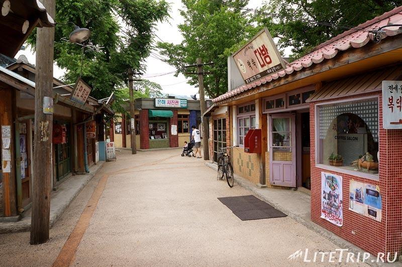Южная Корея. Национальный фольклорный музей - макет улицы.