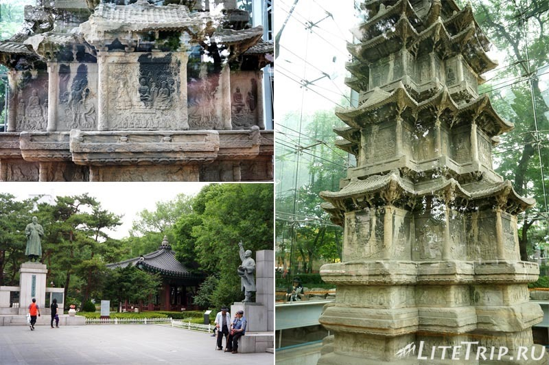 Южная Корея. Старая пагода в Сеуле.