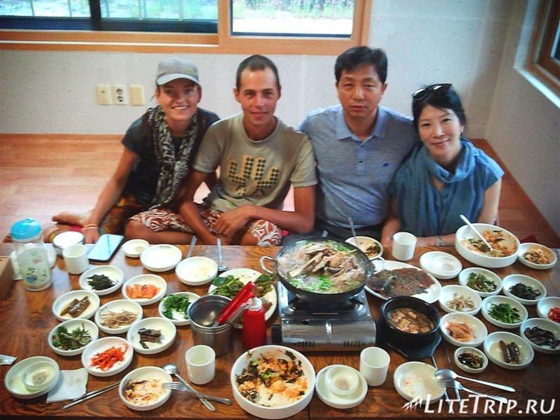 Южная Корея. Традиционный ужин.