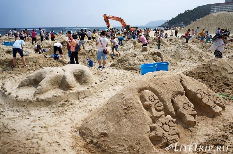 Южная Корея. Фестиваль песка в Пусане - конкурс.