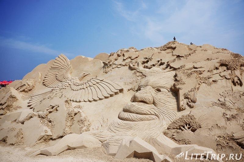 Южная Корея. Фестиваль песка в Пусане - скульптура.