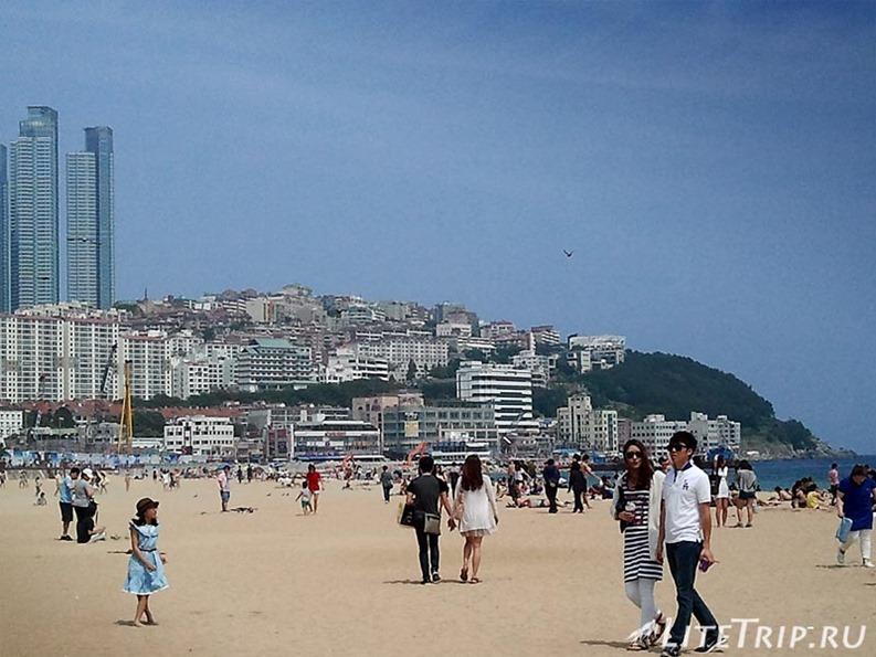 Южная Корея. Пусан - пляж Хэундэ.