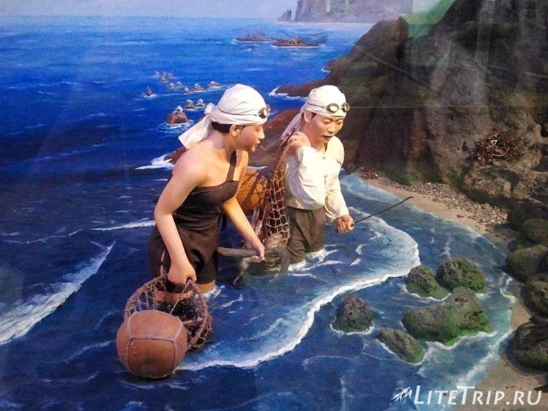 Южная Корея. Джеджу - зал океанариум в национальном музее.