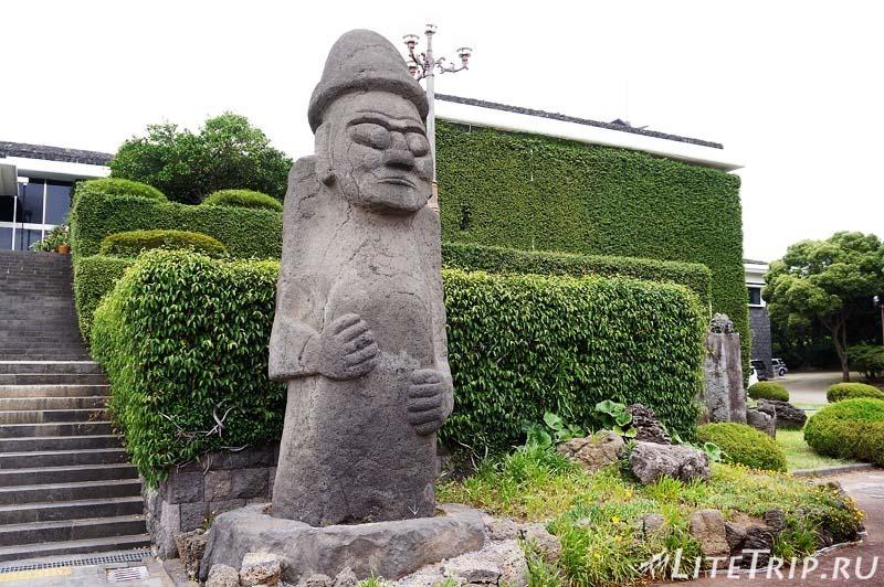Южная Корея. Джеджу - вход в национальный музей.