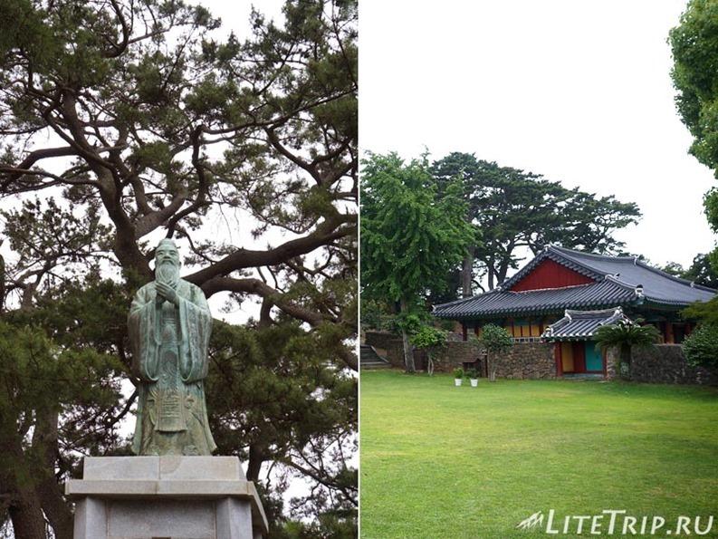Южная Корея. Джеджу - конфуцианская школа, скульптура.