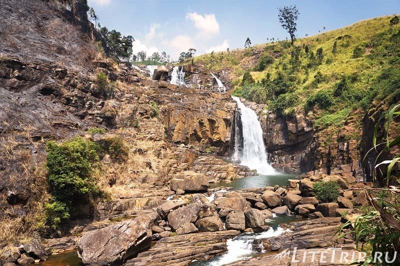 Шри-Ланка. Нувара-Элия. Водопад Сент - Клер внизу.