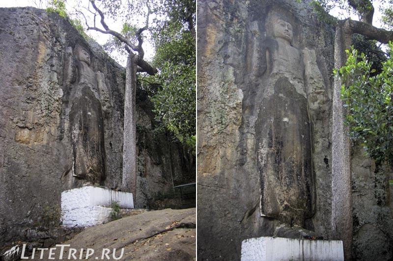 Шри-Ланка. Элла. Храм Дова - статуя Будды в скале.