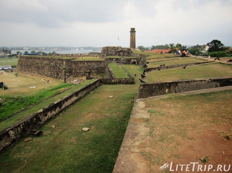 Шри-Ланка. Форт Галле - большая территория.