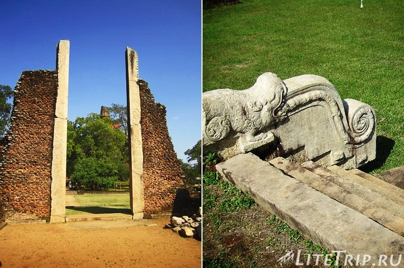 Шри-Ланка. Анурадхапура. Ступа Джетаванарама (Jetavanarama), руины рядом.