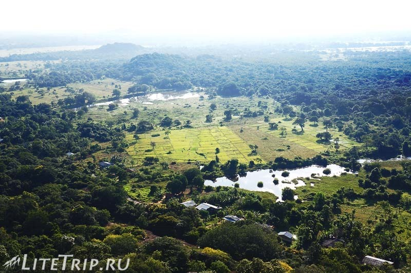 Шри-Ланка. Монастырь Михинтале - вид со скалы Махинды.
