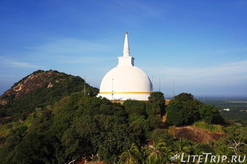 Шри-Ланка. Монастырь Михинтале - ступа на холме