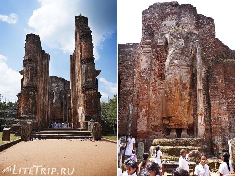 Шри-Ланка. Полоннарува - 13-метровый Будда без головы.