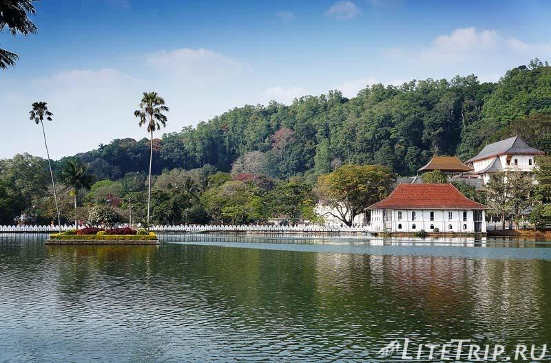 Шри-Ланка. Канди - озеро в центре города.