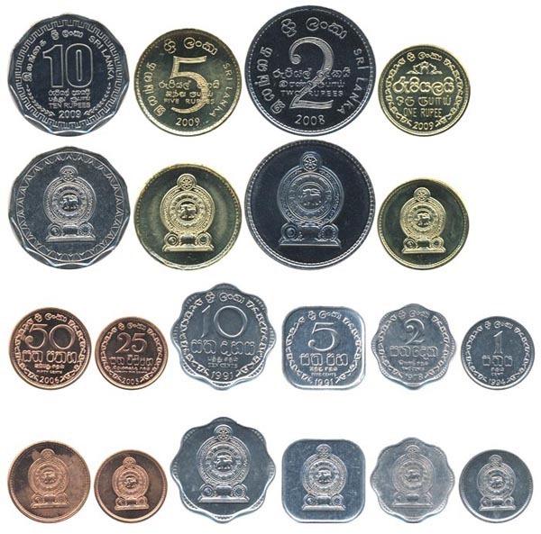Валюта Шри-Ланки. Монетки.