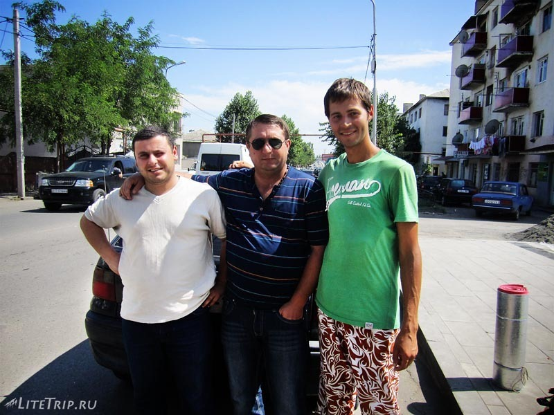 Автостопом до границы с Арменией.